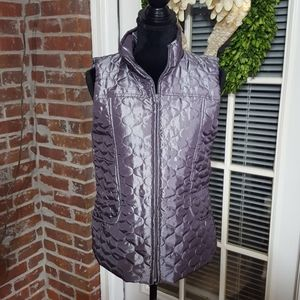 New Directions silver pewter metallic vest NWT M